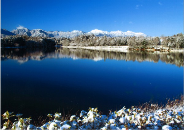 87冬の大山池