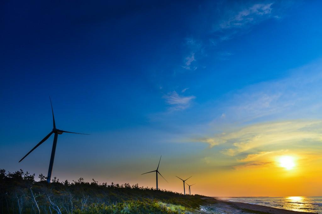 68風車と夕日
